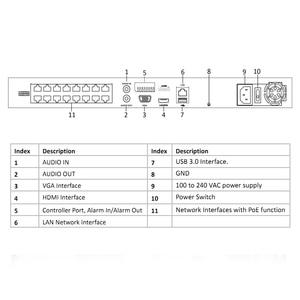 Image 5 - HIKVISION POE NVR DS 7616NI I2/16 P 16CH H.265 12mp POE NVR para la Cámara IP Soporte de Audio bidireccional HIK CONNECT