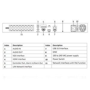 Image 5 - Hikvision оригинальный POE NVR DS 7616NI I2/16P 16CH H.265 12MP MAX POE NVR для ip камеры двухсторонний аудио HIK CONNECT Hikvision OEM