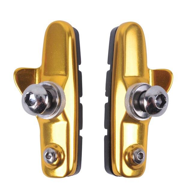 ZTTO 1 par Pastillas de freno de bicicleta bloque de freno de bicicleta de carretera de goma soporte de frenos zapatos de bicicleta piezas de bicicleta de carretera
