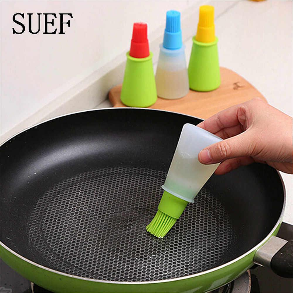 Suef acessórios de cozinha ferramentas escova de óleo de silicone escovas de basting bolo manteiga pão pastelaria escova de cozinha utensílio de cozinha gadgets