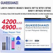 Batterij Voor Meizu Opmerking 5 M5 Note/M5 5S M5s/M3 M3s/M2 Mini/M2 m3 Note L681H M681H BA621/BA612/BT15/BT61/BT68/BA611/BT42C Batterij