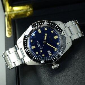 Image 4 - San Martin Diver Men Watch Automatic Mechanical Stainless Steel Sapphire Ceramic Bezel Luminous Waterproof 200M часы мужские