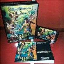ゴールデン斧 2 euカバーボックスとマニュアルセガメガジェネシスビデオゲームコンソール 16 ビットmdカード