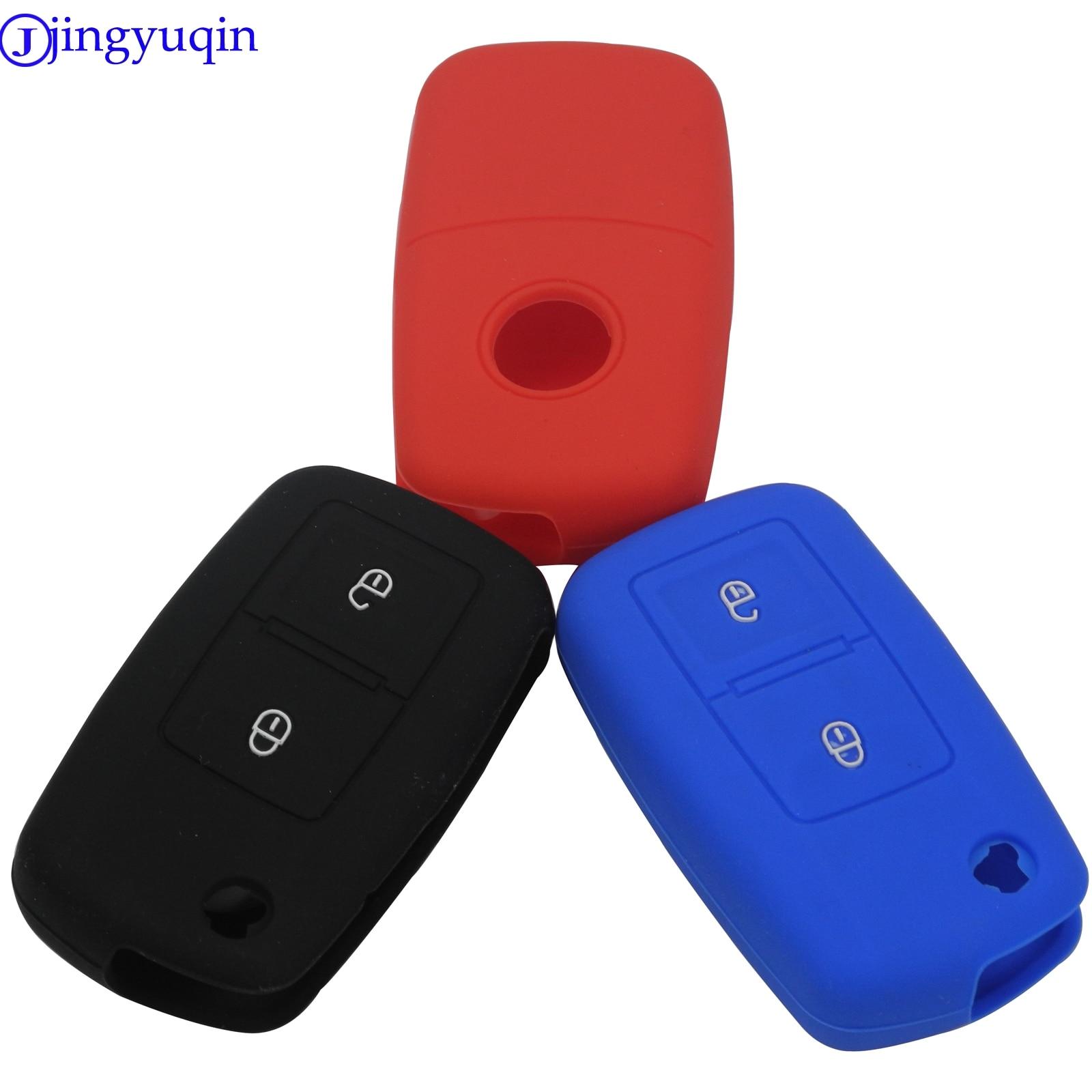 2 Button Silicone  Key Case Key Cover For VOLKSWAGEN VW MK4 Seat Altea Alhambra Ibiza Polo Golf 4 5 6 Transporter Amarok Sharan