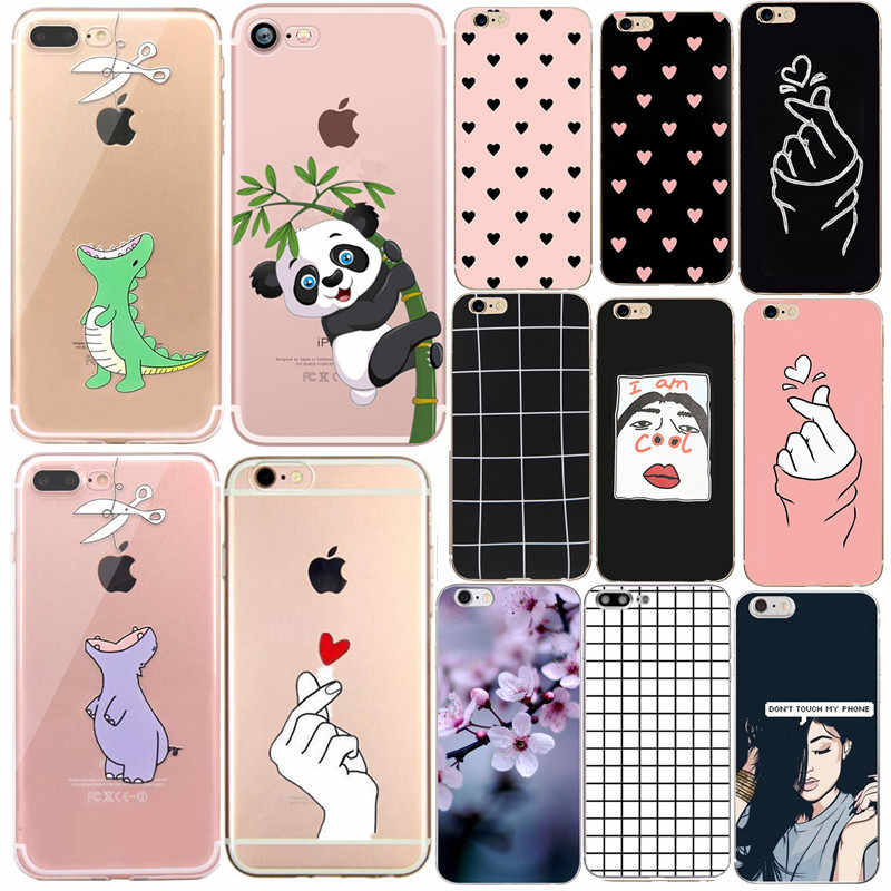 Luxury Silicon Soft Phone Cases For Apple Iphone 7 8 Plus X Xs Cover Funda Coque For Iphone 6 6s 5 5s Se 2020 Case Capinha Para Phone Case Covers Aliexpress