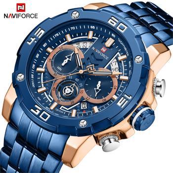 NAVIFORCE 9175 Men Watch Business Quartz Sport Chronograph with box