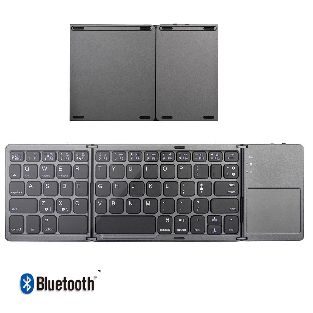 New Fashion  Folding Bluetooth Mini Keyboard Wireless Keypad With Touchpad For Windows,Android,ios Tablet Ipad Phone
