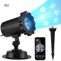 Home LED Spotlight Projector With Remote Control Waterproof Landscape Projector Flood Light Christmas Party Special Lamp Hot N8|LED Lawn Lamps| |  -