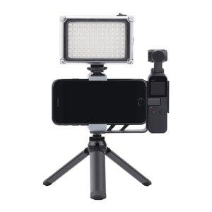 Image 3 - Trípode de Metal para Selfie, soporte plegable para móvil, Clip adaptador para DJI Osmo Pocket/Pocket 2, accesorios de cámara de cardán de mano