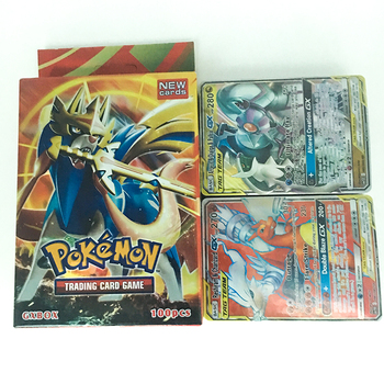 New Pokemon Trading Card Game Sword Shield Collection Shining Box GX Flash Card Energy Trainer Tag Team 100pcs Toys for Children image