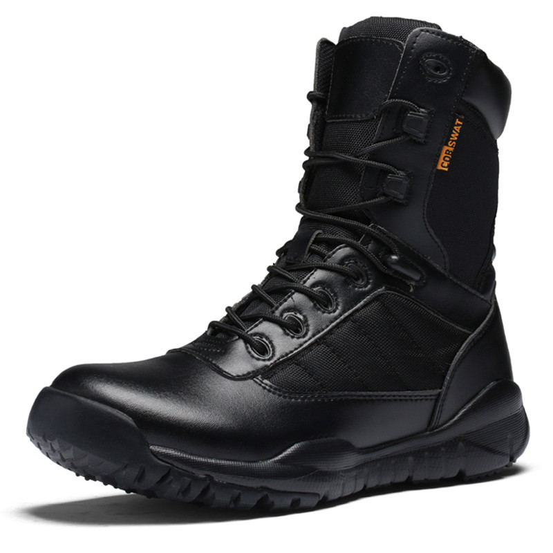 Military Tactical Combat Outdoor Sport Army Men Hiking Shoes Desert Botas Camping Shoes Travel Leather High Boots High Quality