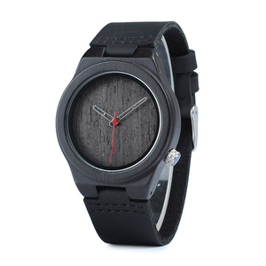 Image 5 - BOBO BIRD Wood Watch relogio masculino Men Fashion Quartz Clock Wood Watches Leather Strap Quartz Wristwatches in Sales Deal