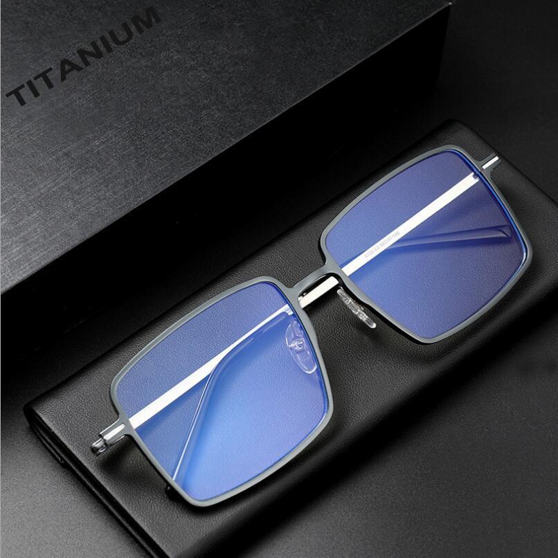Pure Titanium Business Anti Blue Light Computer Glasses Men Spectacle Frame Eyewear UV400 Radiation-Resistant Glasses  A6122