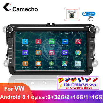 Camecho 2Din Car Radio Android 8.1 Multimedia Player 7 HD Autoradio Bluetooth Mp5 Player 2din Car Stereo For Volkswagen VW Seat image