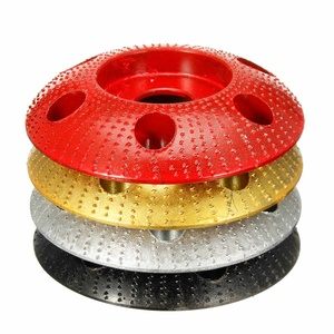 Image 2 - 110mm drewno karbidowe wolframu kształtowanie płyty okrągłe rzeźba płyty z otworem 22mm otwór szlifierka szlifierka koła dla 115 125 szlifierka kątowa
