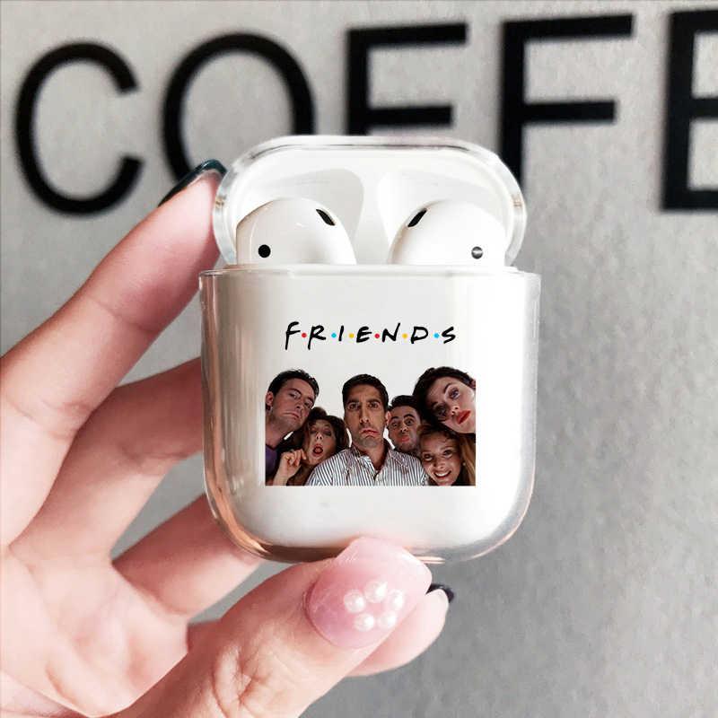 ทีวีเพื่อนสาวสำหรับ Apple AIR pods กล่องชาร์จ Funny TV Series นุ่มโปร่งใสสำหรับ airpods2 1 ไร้สายบลูทูธฝาครอบ