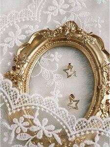 Image 5 - Fondali Fotografia Panno di Seta & Golden Vintage Photo Frame Sparare In Studio Puntelli Sfondo Fotografia per Gli Orecchini Dei Monili Anello