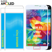 SUPER AMOLED G900F For Samsung Galaxy S5 i9600 G900A LCD Display Touch Screen With Home Button For Samsung S5 LCD Reair parts