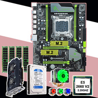 HUANAN ZHI motherboard with M.2 slot computer DIY X79 motherboard with CPU RAM video card HDD 1TB CPU cooler all are tested
