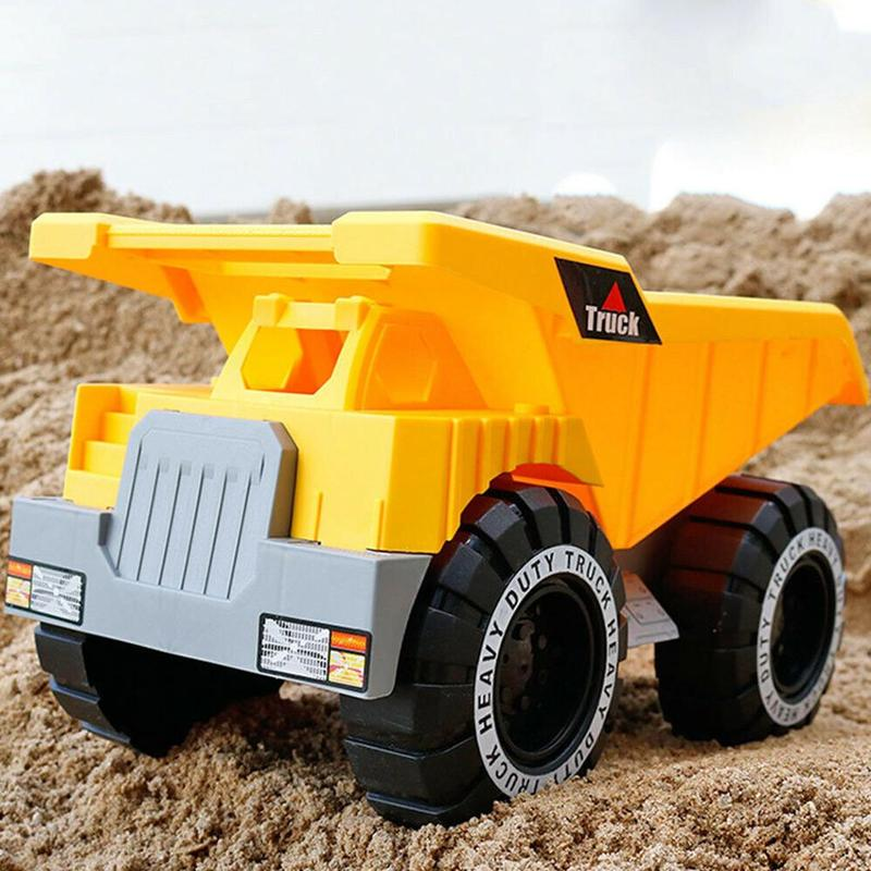 Simulation Inertial Engineering Vehicle Toy Excavator Car Model Dump Truck Children Beach Sand Toys