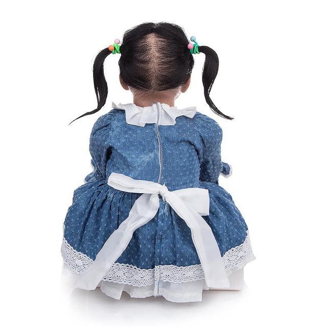 Фото кукла реборн 22 дюйма в этническом стиле мягкая виниловая младенец цена