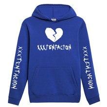 Jesień i zima Xxxtentacion zemsta bluza z kapturem męczyźni/kobiety raper hip-hopowa bluza z kapturem Streetwear