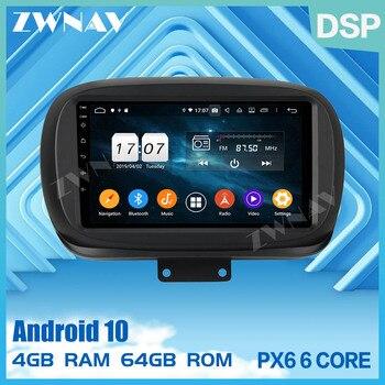 Reproductor multimedia para coche 4G + 64GB Android 9,0 para Fiat 500X 2014 2015-2019 GPS navegación estéreo para coche radio grabadora Unidad Principal