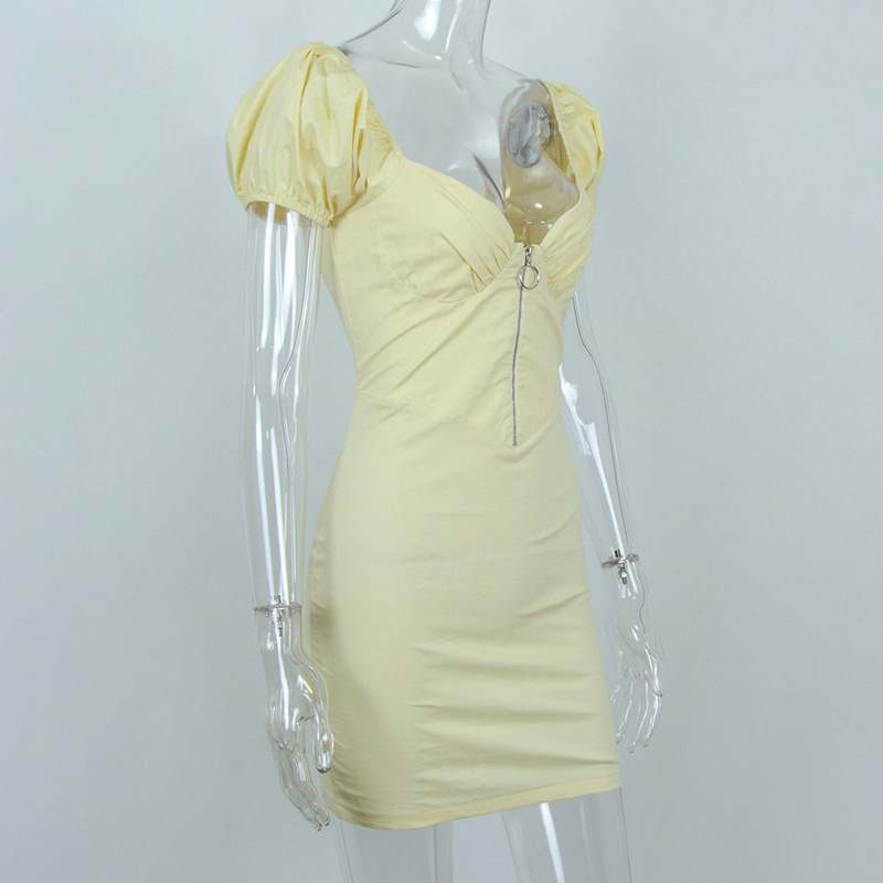Elegant Backless Satin Bandage Ruched Bodycon Dress 7