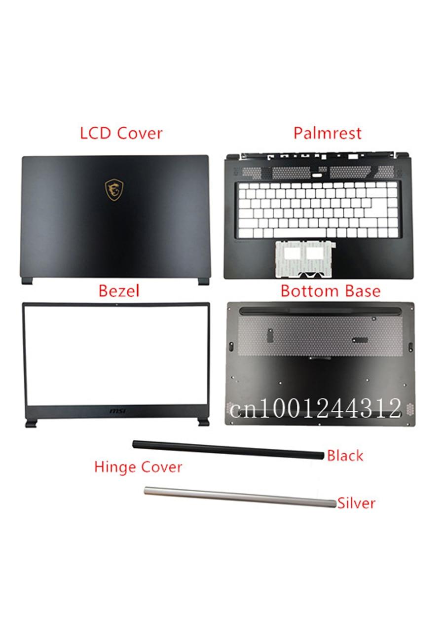 New Original For MSI  GS65 GS65VR MS-16Q1 LCD Rear Top Lid Back Cover / Bezel / Palmrest /  Bottom Base Case / Hinge
