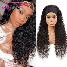 30 cali pałąk peruka brazylijski włosy 100% ludzki włos peruki miękka woda fala pałąk peruka ludzki włos bez koronki długi rozmiar Alianna peruki