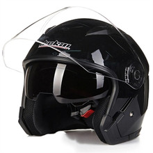 Motorcycle Helmet Double Lens Universal 3/4 Half Racing Motor Electric Four Seasons Sun Protection C47