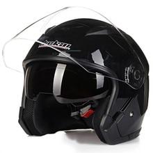 Motorcycle Helmet Double Lens Universal 3/4 Half Racing Helmet