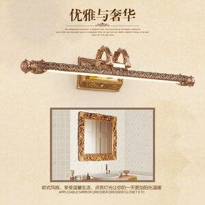 Image 4 - Iluminação de parede europeia, lâmpada para espelho de armário, banheiro americano, à prova dágua, farol retrô