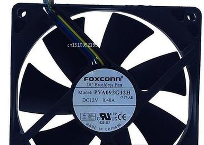 For Foxconn PVA092G12H 92x92x25mm PWM DC12V 0.4A 4wire 4pin For Dell For HP Cooling Fan Free Shipping