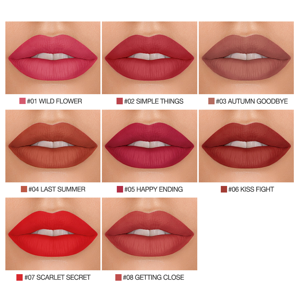 Image 2 - BANXEER Lipgloss Matte 8 Colors Lip Gloss Velvety Lipstick Liquid Matte Waterproof Lip Tint Full & rich Sexy Lip Makeup Cosmetic-in Lip Gloss from Beauty & Health