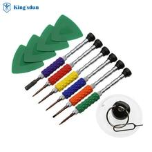 12 pcs mini screwdriver set of small iron handle Apple mobile phone maintenance tools (in ED color box)