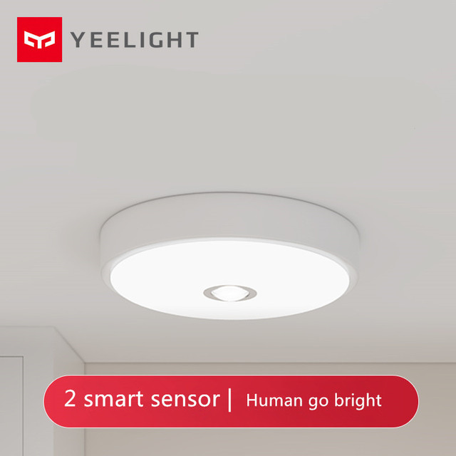 [HOT] Mijia Yeeligh t Sensor Led ceiling Mini Human Body / motion Sensor light mini smart motion night Mi light For home