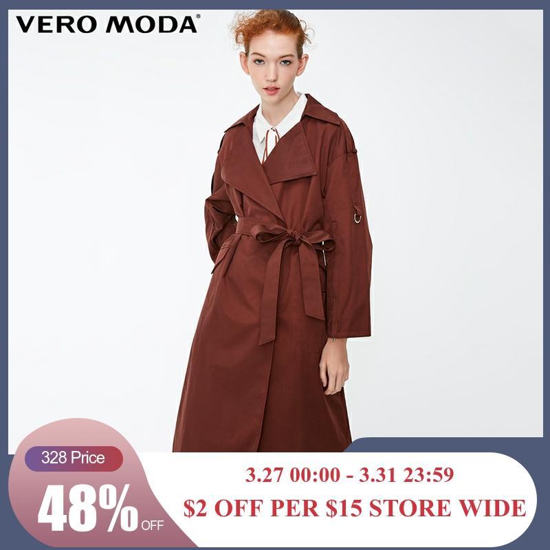 Vero Moda Women's New Zipped Cuffs Straight Fit Pure Long Wind Coat | 318321528