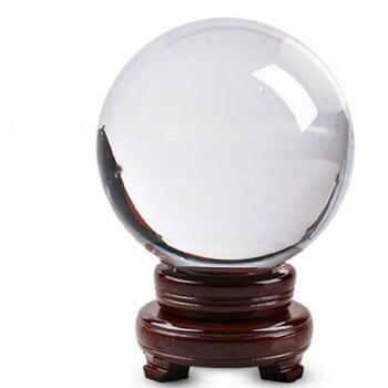 30mm-100mm Crystal Ball Quartz Glass Clear Ball Spheres Glass Ball Photography Balls Crystal Craft Decor Feng Shui