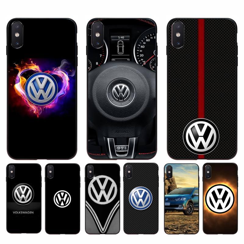 YNDFCNB Volkswagen Coque Coque pour iphone 11 Pro Max X XS MAX 6 6s 7 8 plus 5 5S 5SE XR SE2020