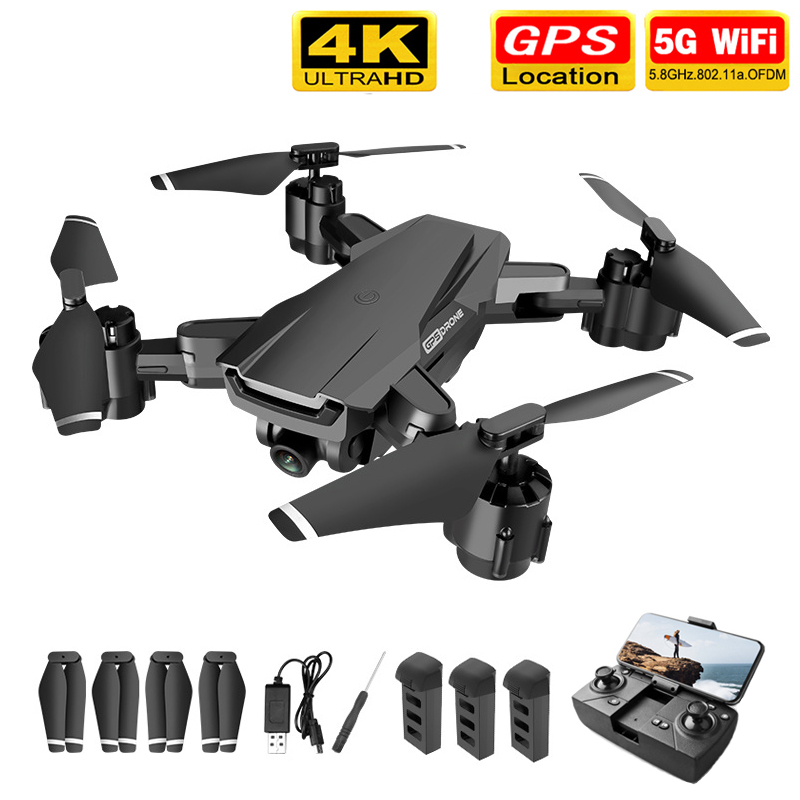 2020 NEW H3 Drone GPS HD 4K 1080P 5G WIFI Video Transmission Height Keep for with Camera VS SG907 dron 20 Minutes Drones Toys