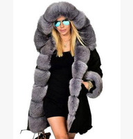 Camouflage winter jacket women outwear parka fur collar lady coat plus size Slim fit Warm Long coat fashion winter clothes women