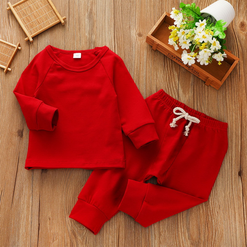 Осенняя Повседневная футболка с длинными рукавами для новорожденных мальчиков и девочек от 0 до 24 месяцев комплект одежды со штанами в полоску