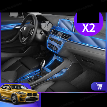 Lsrtw2017 TPU GPS navigation transparent Car Interior anti-scratch Film gear panel Sticker for Bmw X2 F39 2017 2018 2019 2020 image