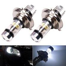 2pcs Car LED Fog Light Motorcycle Headlight White Bulb H4 9003 HB2 8000K Hi/Lo Beam 20 1800LM  Driving DRL Lamp for Car Truck