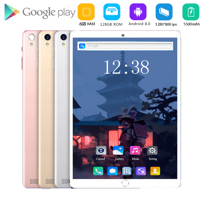2020 Global ROM Lonwalk Android 8.0 WIFI Play Tablet  10.1 Inch 6GB 128GB MTK8752 Octa Core IPS Glass Screen PC 10