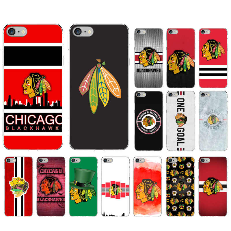 Yinuoda ชิคาโก Blackhawks DIY Luxury High-end Protector สำหรับ iPhone 8 7 6 6S PLUS X XS MAX 5 5S SE XR 11 PRO MAX