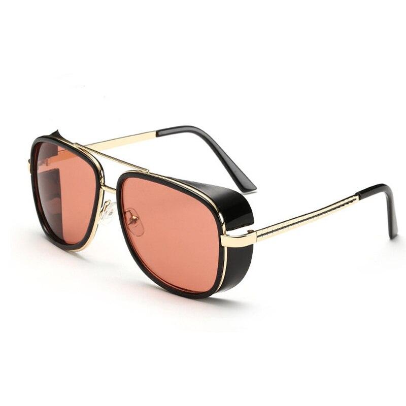 Iron Man 3 TONY Stark Sunglasses Men Rossi Coating Retro Vintage Designer Sun Glasses Oculos Masculino Gafas De
