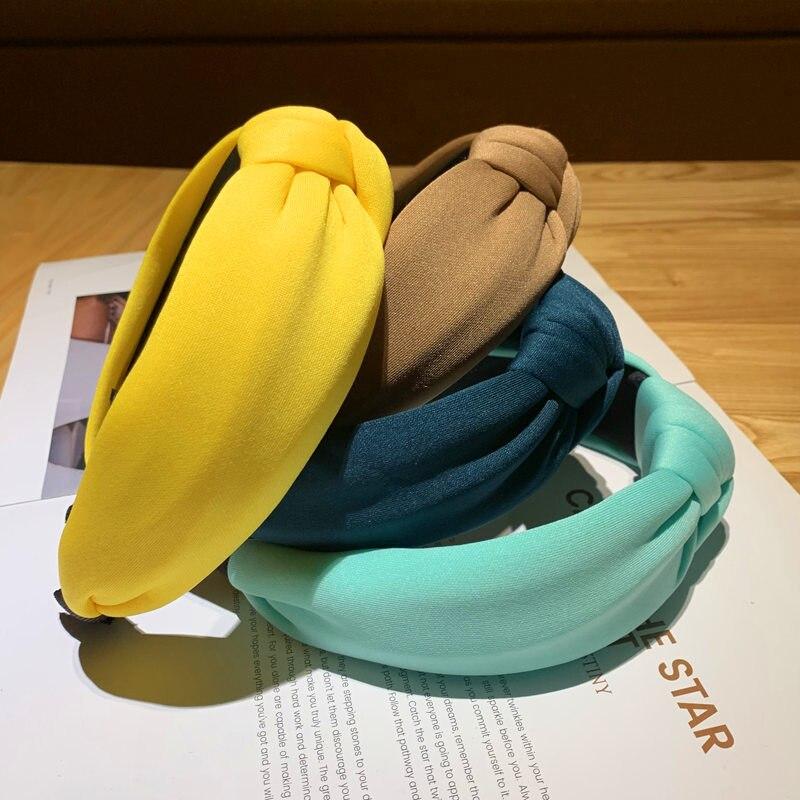 Cabeça de Esponja Lote Faça Você Mesmo Simples Multi Laço nó Completo 3d Puro Colore Headbands Francesa Bandas Estilo Ferramenta Acessório Ha1691 36 Pçs –