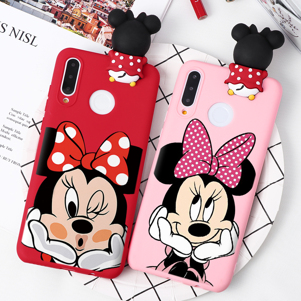 Cute 3D Cartoon Doll Silicone Case For Huawei Honor 10I 8X 9X Mate 10 20 P30 P20 P40 Lite Pro Y6 Y7 Y9 P Smart Z 2019 Case Cover